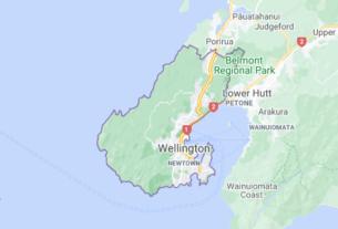 Map of New Zealand Wellington