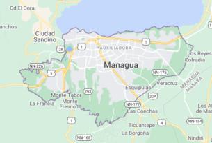 Map of Nicaragua Managua