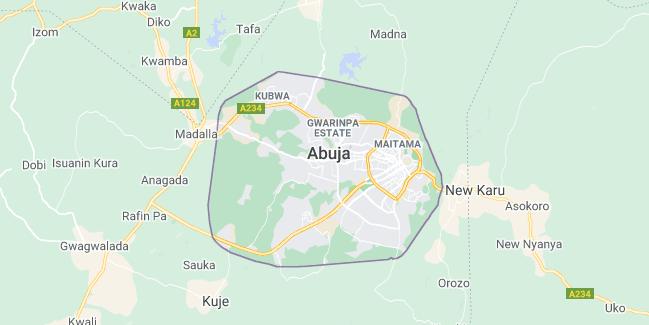 Map of Nigeria Abuja
