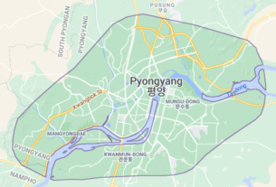 Map of North Korea Pyongyang