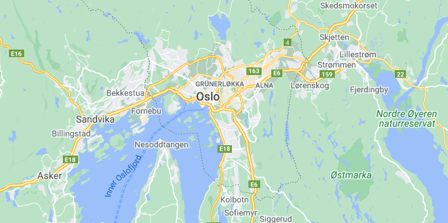 Map of Norway Oslo