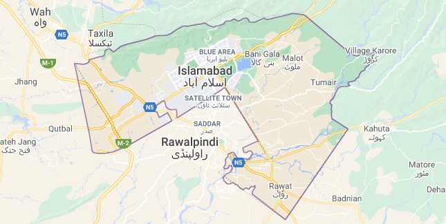 Map of Pakistan Islamabad