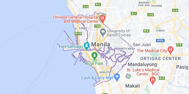 Map of Philippines Manila