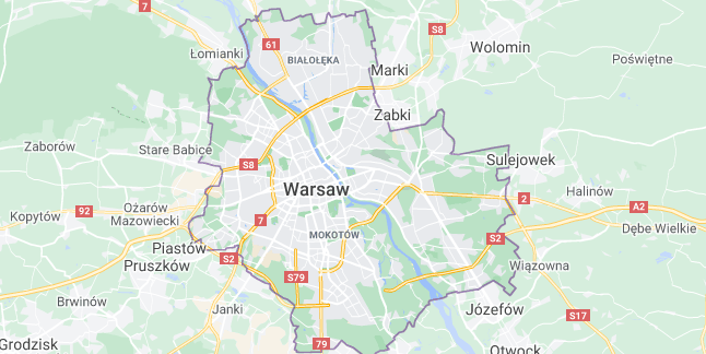 Map of Poland Warsaw