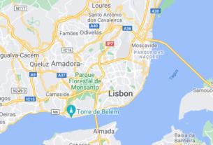 Map of Portugal Lisbon
