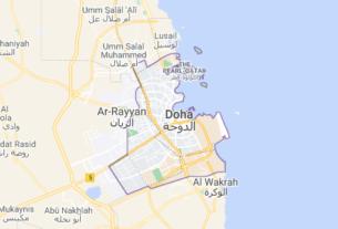 Map of Qatar Doha