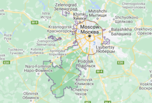 Map of Russia Moscow