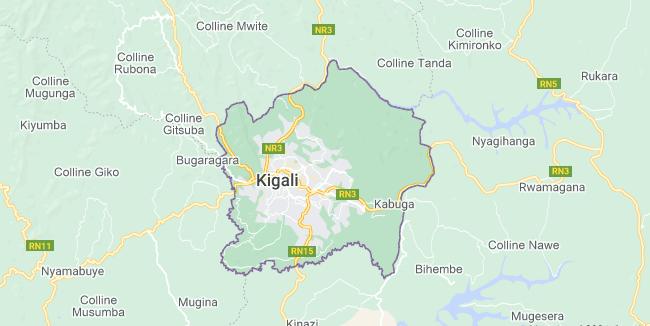 Map of Rwanda Kigali