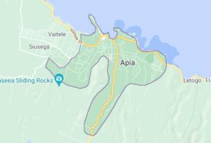 Map of Samoa Apia