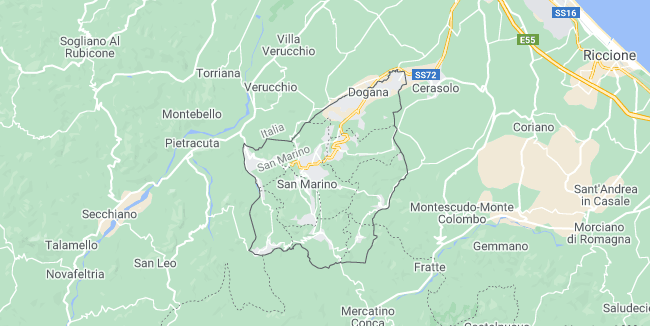 Map of San Marino San Marino