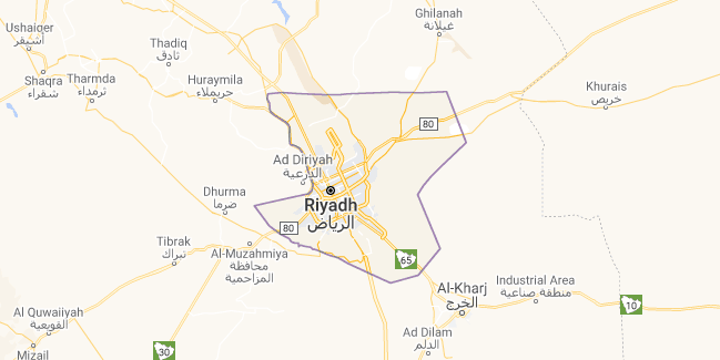Map of Saudi Arabia Riyadh