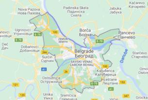 Map of Serbia Belgrade