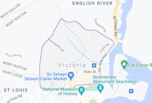 Map of Seychelles Victoria
