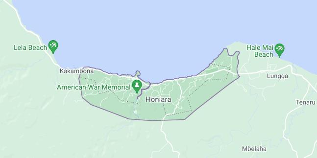 Map of Solomon Islands Honiara