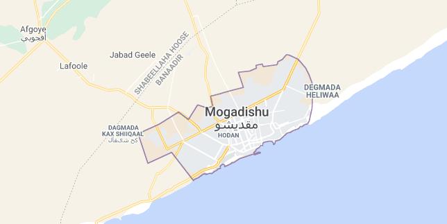 Map of Somalia Mogadishu