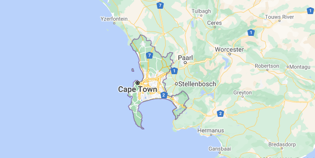 Map of South Africa Cape Town
