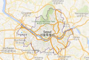 Map of South Korea Seoul