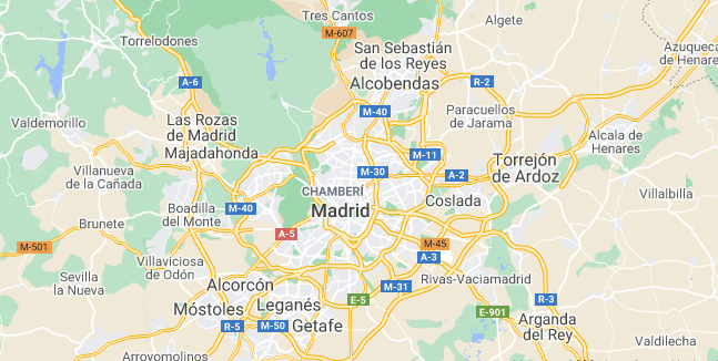 Map of Spain Madrid