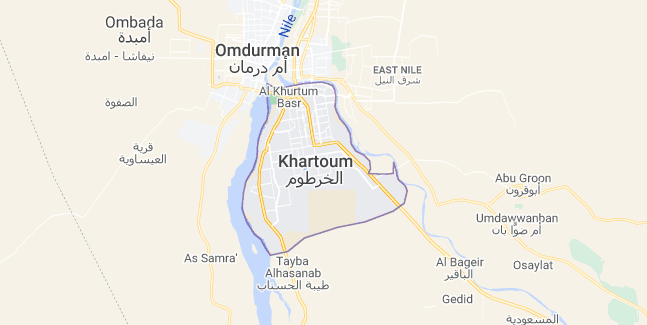 Map of Sudan Khartoum