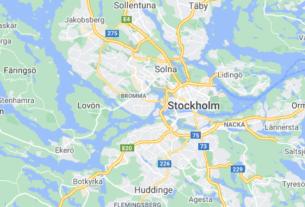Map of Sweden Stockholm
