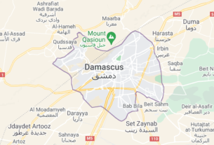 Map of Syria Damascus