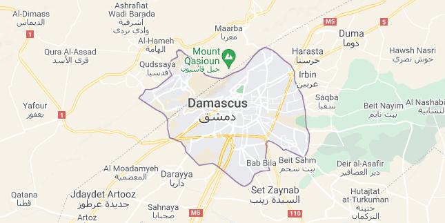 Map of Syria Damascus