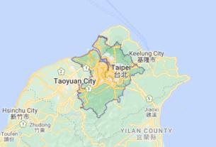 Map of Taiwan Taipei