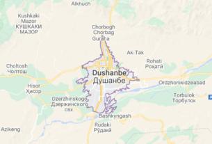 Map of Tajikistan Dushanbe