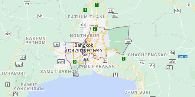 Map of Thailand Bangkok