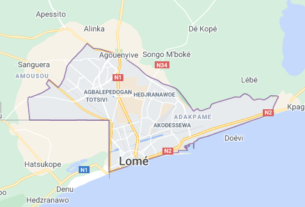 Map of Togo Lome