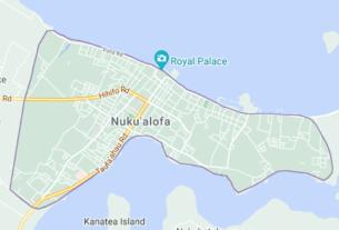 Map of Tonga Nuku'alofa