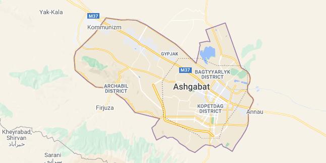 Map of Turkmenistan Ashgabat