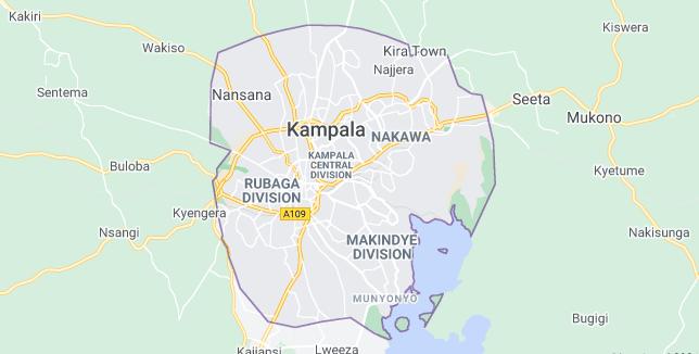 Map of Uganda Kampala