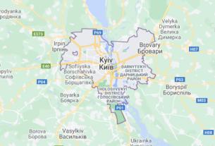 Map of Ukraine Kiev