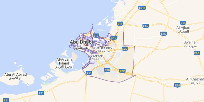 Map of United Arab Emirates Abu Dhabi