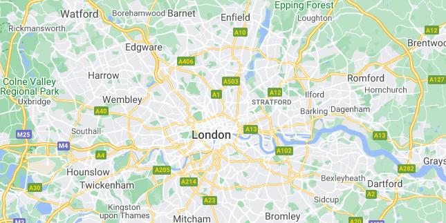 Map of United Kingdom London