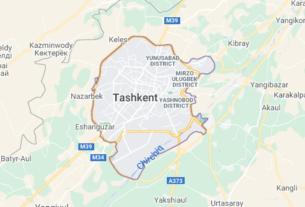 Map of Uzbekistan Tashkent