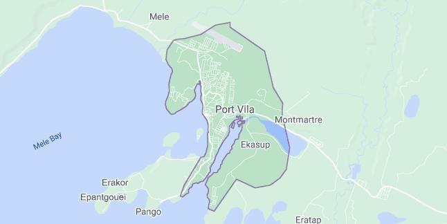 Map of Vanuatu Port Vila