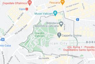 Map of Vatican City