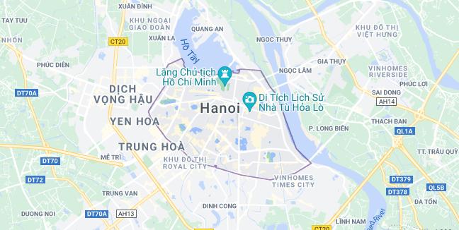 Map of Vietnam Hanoi