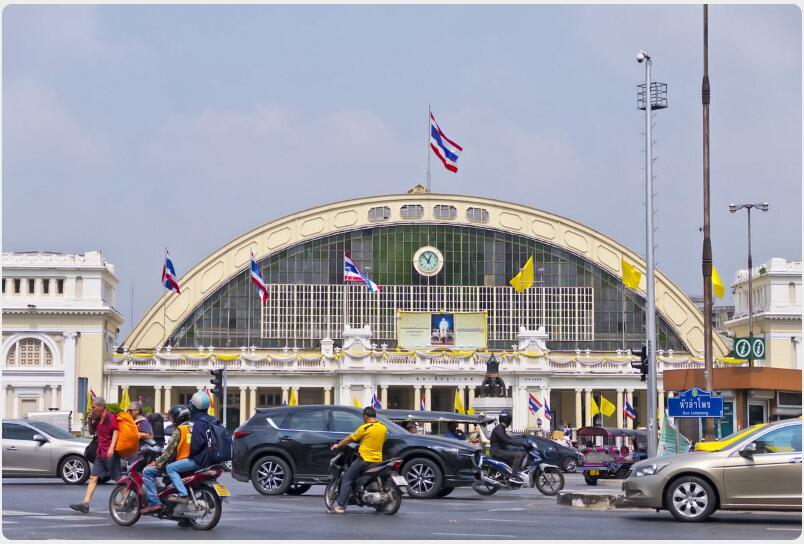Train south of Bangkok